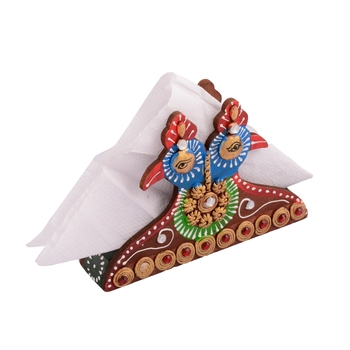 Wooden Papier Mache Decorative Tissue Paper Holder