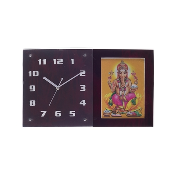 Decorative Analog Red Square Wall Clock