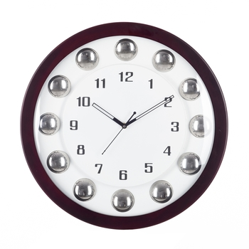 Decorative Analog Brown Round Wall Clock