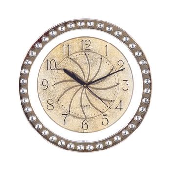 Decorative Analog Golden Round Wall Clock