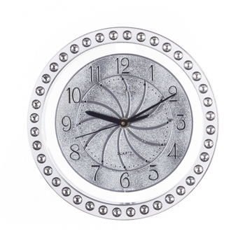 Decorative Analog Silver Round Wall Clock