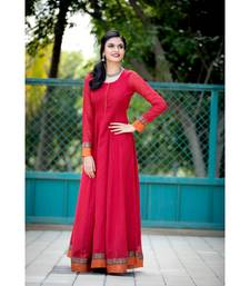 red woven cotton stitched dresses