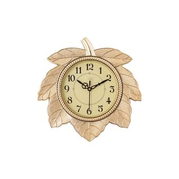 Leaf Shape Retro Golden Wall Clock