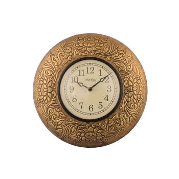 Vintage Golden Wooden Handcrafted Wall Clock