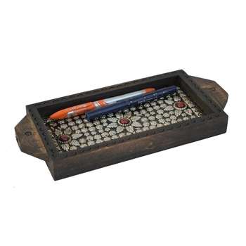 Ornate Wooden Utility Tray