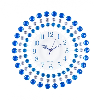 Decorative Analog Blue Round Diamond Series Wall Clock