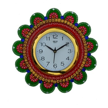 Papier-Mache Sublime Round Handcrafted Wall Clock