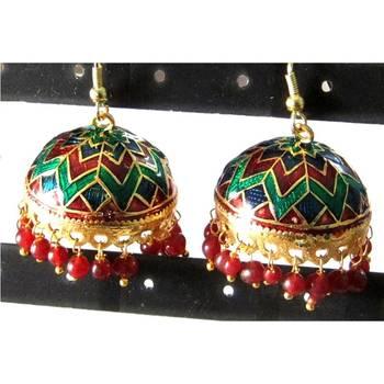 Green & Red Jhumki