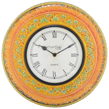 Decorative Analog Yellow Wall Clock