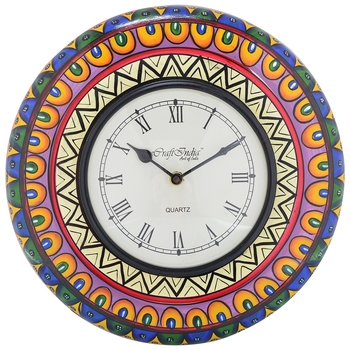 Decorative Analog Multicolour Wall Clock