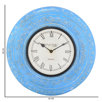 Decorative Analog Blue Wall Clock