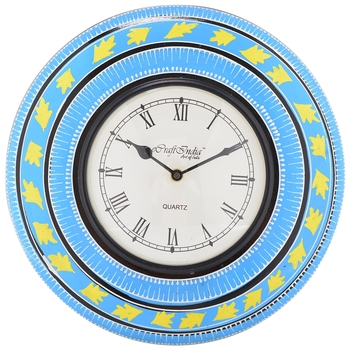 Decorative Analog Blue Wall Clock