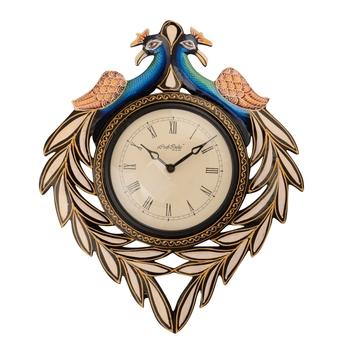 Peocock Design Antique Wooden Handcrafted Wall Clock
