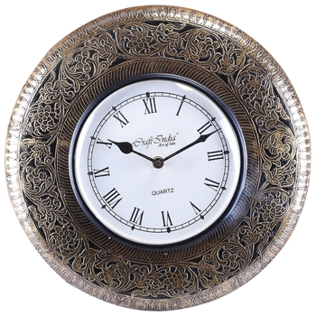Handcrafted Premium Round Wooden Wall Clock