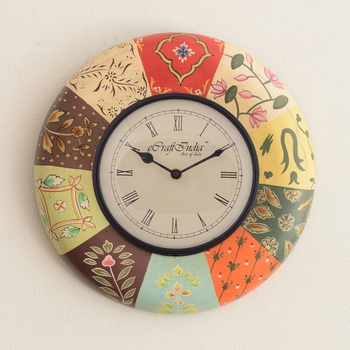 Colorful Decorative Wooden Handcrafted Wall Clock