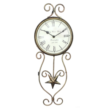 Antique Design Handcrafted Iron Wall Clock