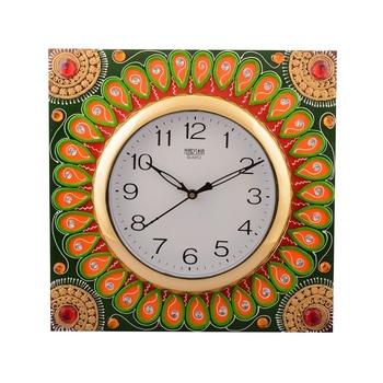 Wooden Papier Mache Splendid Artistic Handcrafted Wall Clock