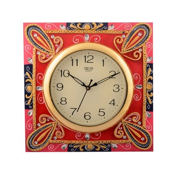 Wooden Papier Mache Suberb Artistic Handcrafted Wall Clock