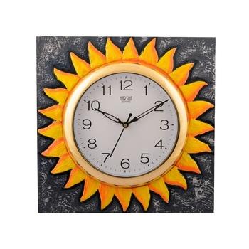 Wooden Glorious Sun Design Artistic Handcrafted Wall Clock