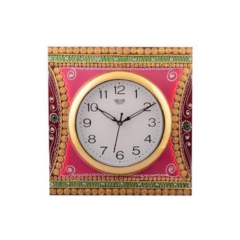 Wooden Papier Mache Decorative Artistic Handcrafted Wall Clock