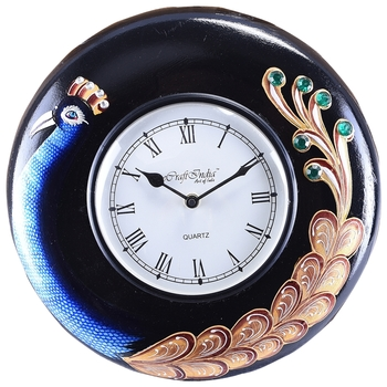 Handcrafted Premium Round Wooden Wall Clock