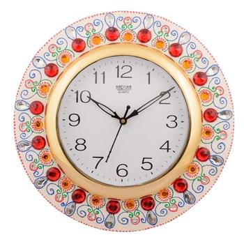 Wooden Papier Mache Ornamental Handcrafted Wall Clock
