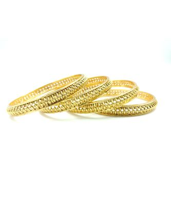 Gold gold_plated bangles