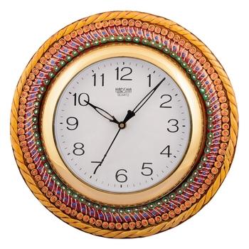 Wooden Papier Mache Glorious Handcrafted Wall Clock