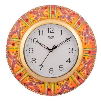 Wooden Papier Mache Artistic Handcrafted Wall Clock