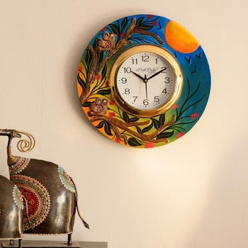 Sunrise View Decorative Wooden Handcrafted Wall Clock