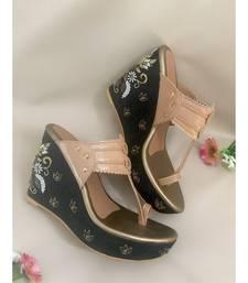 black leather kolhapuris sandals