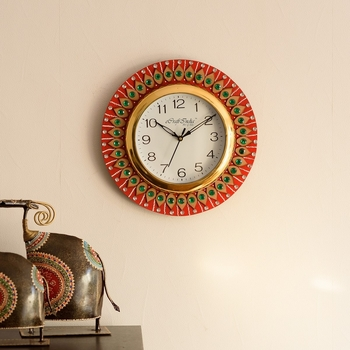 Decorative Handmade Wooden Handcrafted Wall Clock