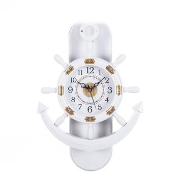 Decorative Retro Anchor White Pendulum Wall Clock