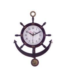 Decorative Retro Anchor Brown Pendulum Wall Clock