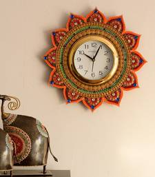 Royal and Elegant Decorative Papier-Mache Wooden Handcrafted Wall Clock
