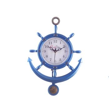 Decorative Retro Anchor Blue Pendulum Wall Clock