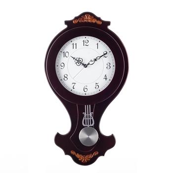 Decorative Analog Black Round Pendulum Wall clock