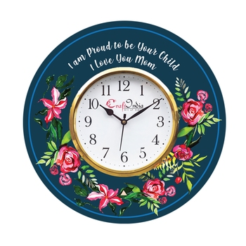 Special Thanks to Mother Theme Wooden Colorful Round Wall Clock