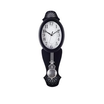 Decorative Analog Black Oval Pendulum Wall clock