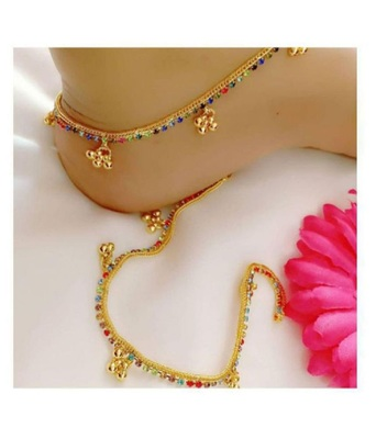 Multicolor diamond anklets