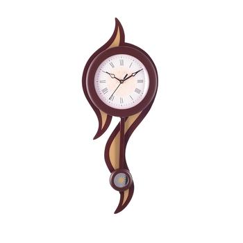 Decorative Analog Brown Round Pendulum Wall clock