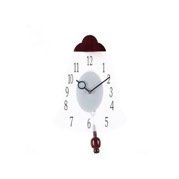 Decorative Analog Brown Oval Pendulum Wall clock