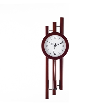 Decorative Analog Brown Round Pendulum Wall clock
