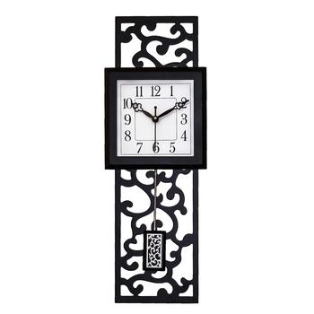 Black vertical wooden analog wall clock(53 cm x 17.8 cm)