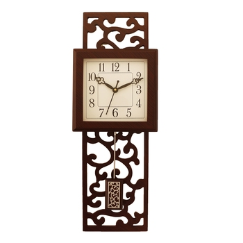 Cola Brown vertical wooden analog wall clock(53 cm x 17.8 cm)