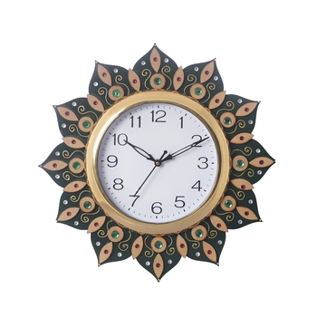 Sublime and Decorative Papier-Mache Wooden Handcrafted Wall Clock