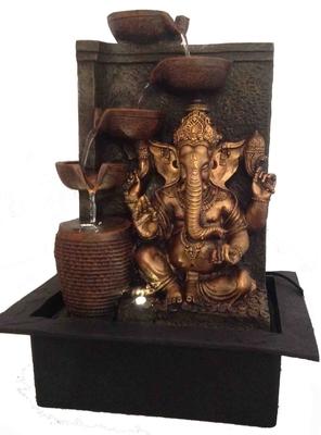 Golden Lord Ganesha Water Fountain