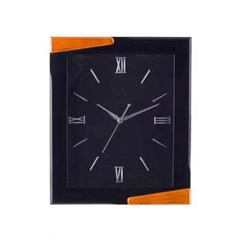 Premium Decorative Analog Black Rectangle Wooden Wall Clock