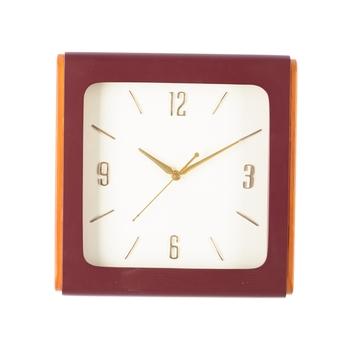 Premium Decorative Analog Brown Square Wooden Wall Clock