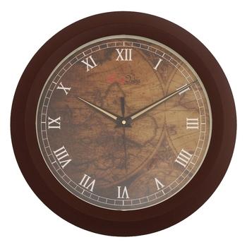 Designer Round Analog Brown Wall Clock